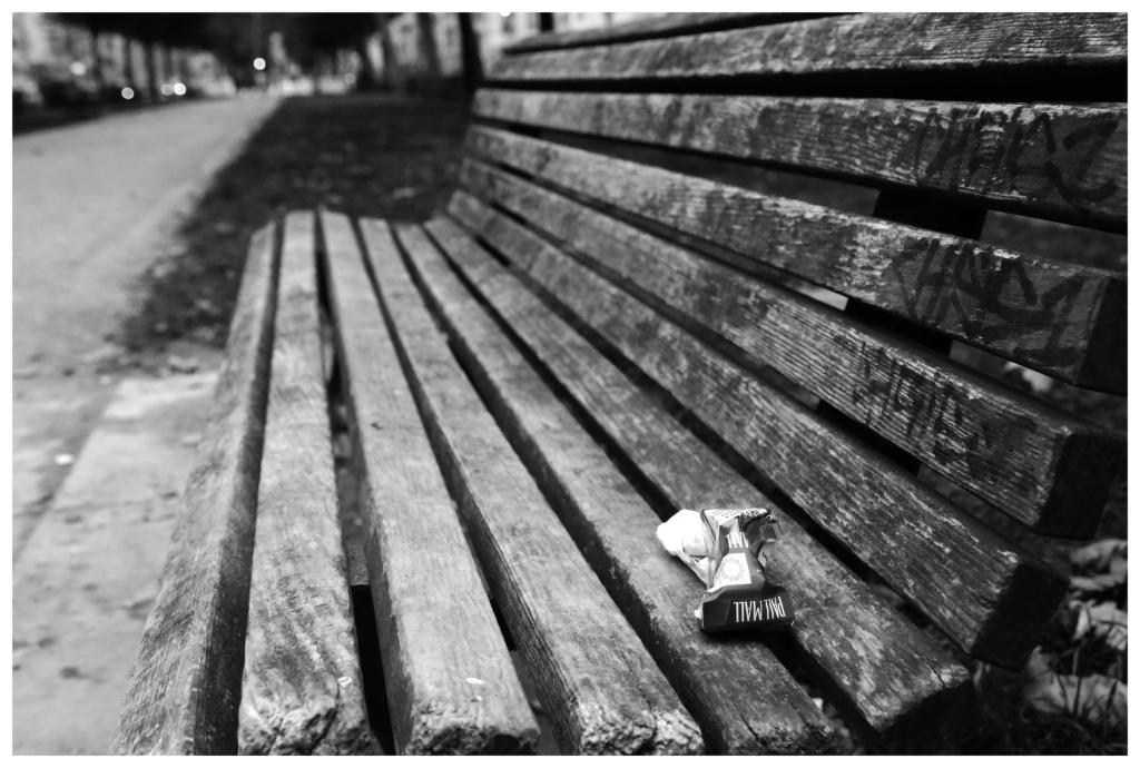 Deserted bench