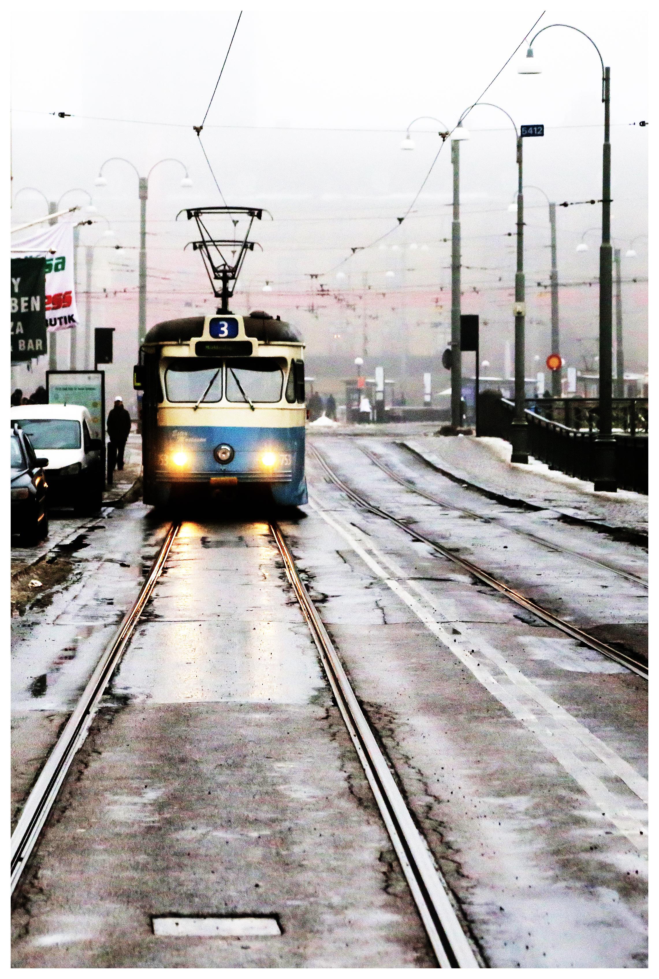 Street photography Gothenburg Tram